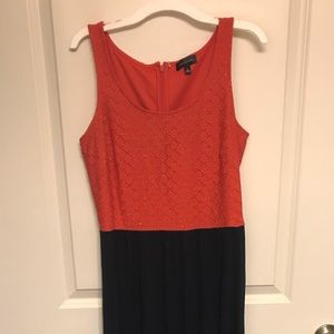 The Limited Pink and Navy Maxi Dress